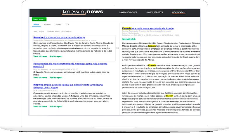 Knewin News Tela